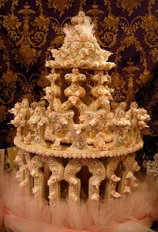 Sardinian Wedding Cake Made out of Biscuit