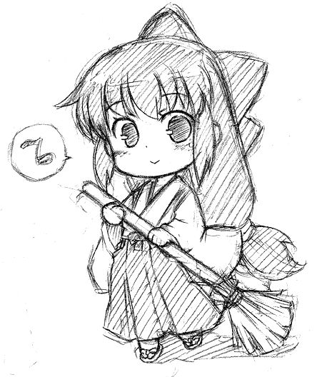 A little clean sketch from chibi pencil when i have time i try to lineart it with some adjustments