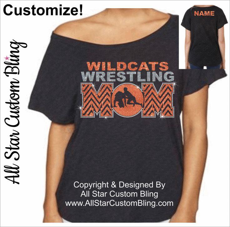 Wrestling Mom Off Shoulder Dolman Shirt, Wrestling Mom Bling Shirt, Wrestling Mom Dolman Shirt