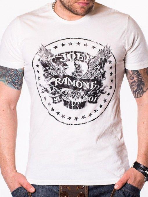 Tricou pentru barbati Joe Ramone - alb