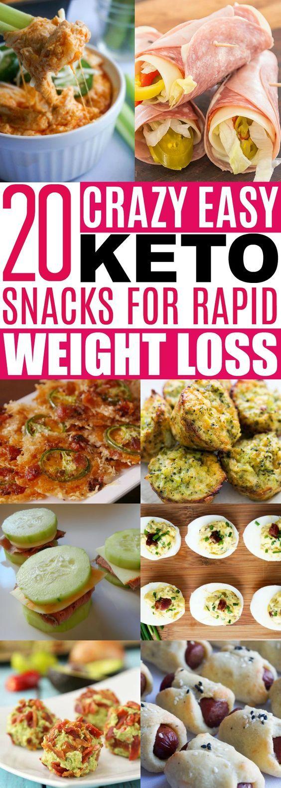 20 Keto Snacks - Rapid Weight Loss #keto #lowcarb #ketogenic