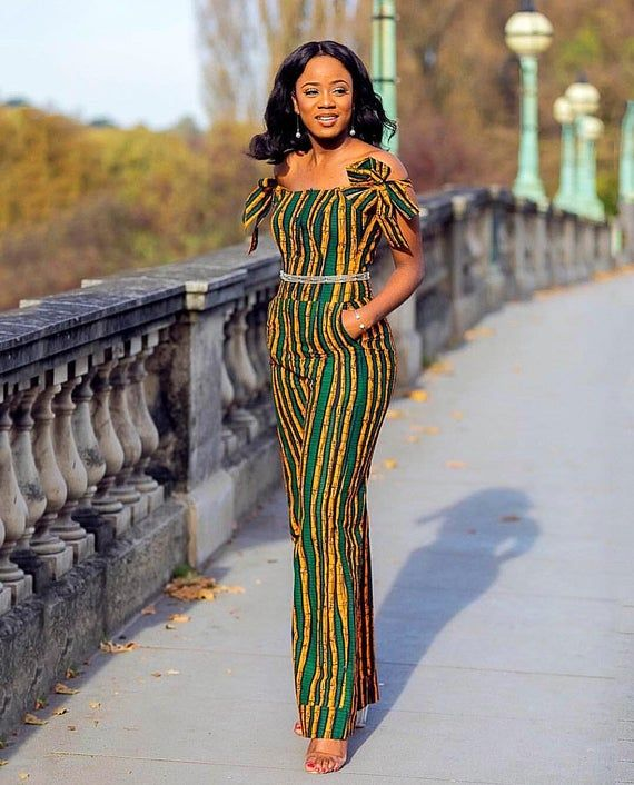 African Print Jumpsuit, African Print Trousers, African Clothing, African Clothing for Women, Africa