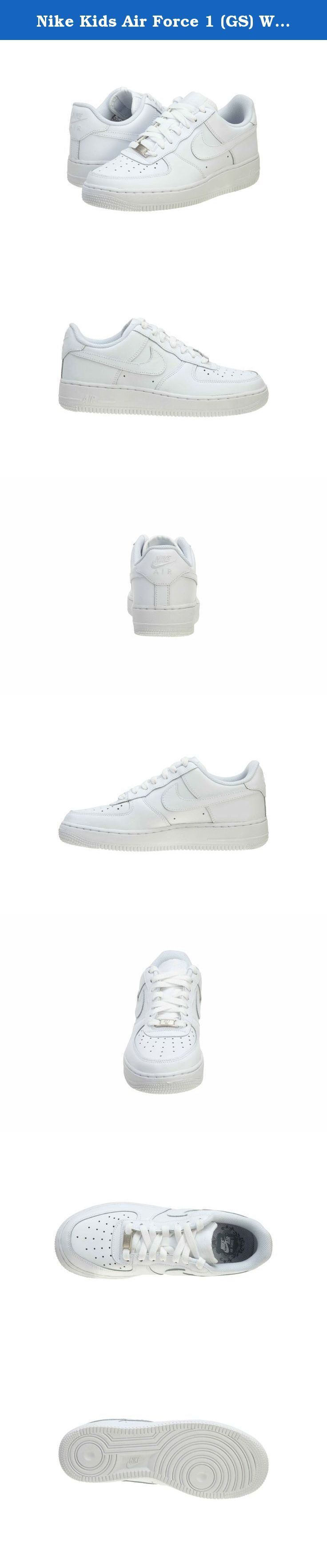 Nike Kids Air Force 1 (GS) White/White/White Basketball Shoe 6 Kids US. Nike Air Force 1 (Gs) Big Kids Style # 314192.