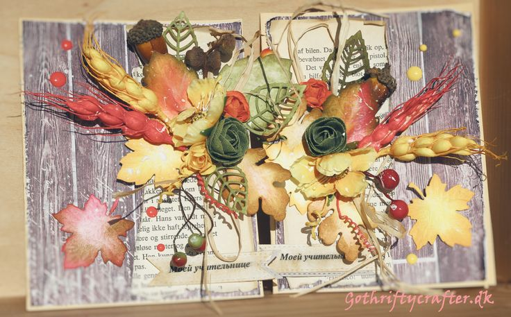 Scrapbooking card autumn leaves