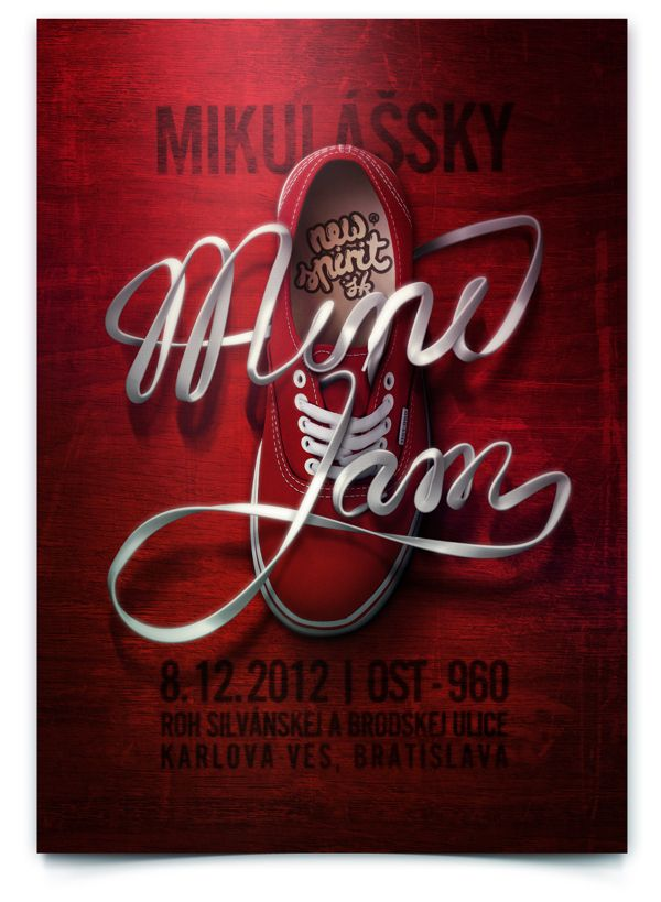 Mini Jam poster by Lukas Karasek, via Behance