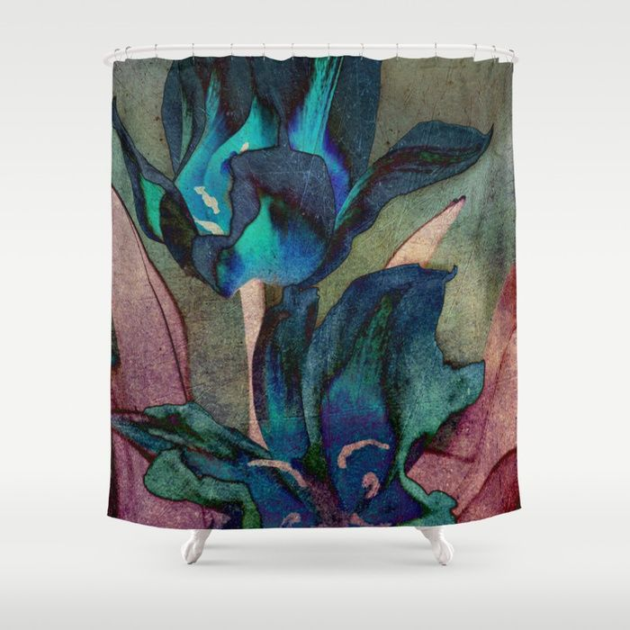 Buy Vintage tulips(sapphire) Shower Curtain by maryberg. Worldwide shipping available at Society6.com. Just one of millions of high quality products available.