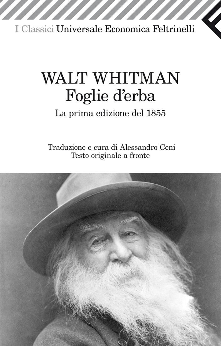 """Walt Whitman, """"Foglie d'erba"""". """"Io sono il poeta del corpo,e sono il poeta dell'anima. Io sono colui che cammina con l'avanzare della tenera notte"""" Nel 1855 Walt Whitman, il grande poeta dell'anima americana, dava alla luce le prime Foglie d'erba, ovvero le prime poesie che comporranno la raccolta di una vita. I testi furono immediatamente amati dal grande Ralph Waldo Emerson, che li definì """"l'esempio più straordinario di intelligenza e di saggezza che l'America abbia sin qui offerto""""."""