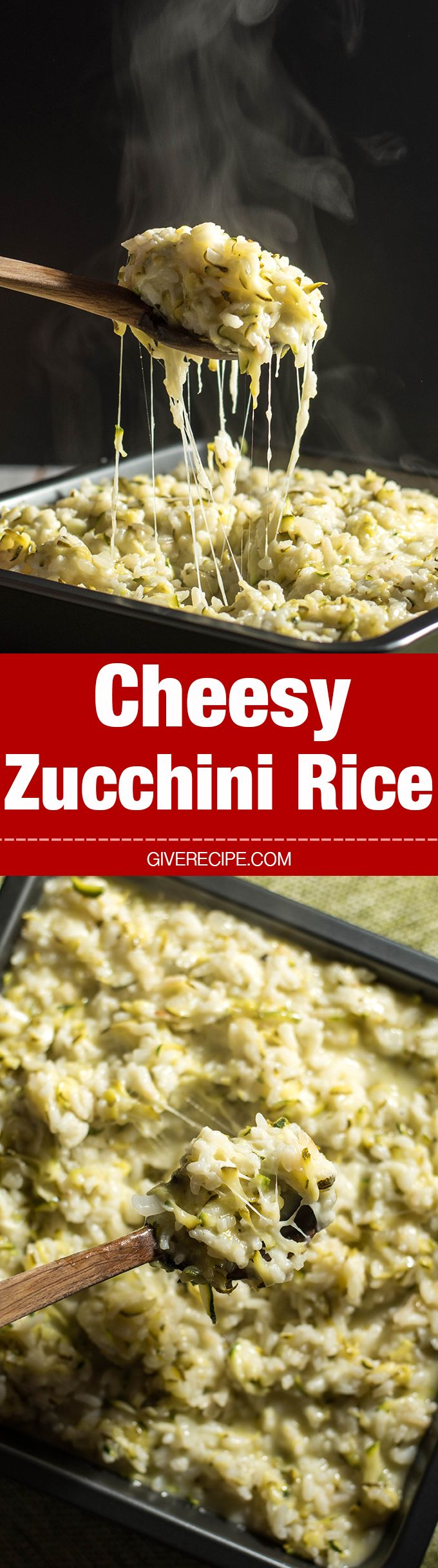 Cheesy Zucchini Rice will be the most favorite side of your family in summer. Despite all the zucchini inside! 100% guaranteed! - giverecipe.com