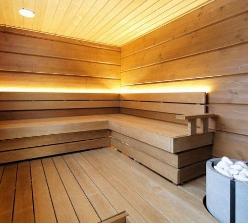Tulikivi Naava saunaheater is made of soapstone. Photo from Rakentaja.fi