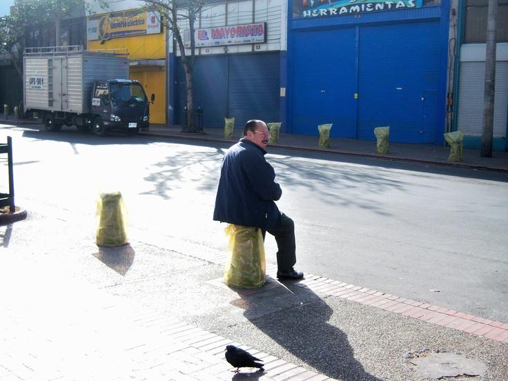 "Bolardos ""Basura Inútil y Costosa"" Artista: Milton Figueredo Miles"