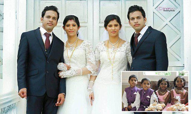 Απίστευτη ιστορία: Δίδυμα αδέρφια παντρεύονται δίδυμες αδερφές με δίδυμους ιερείς στην Ινδία!