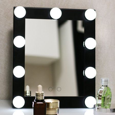 Vintage Free Shipping Buy Led Bulb Vanity Lighted Hollywood Makeup Mirror with Dimmer Stage Beauty Mirror