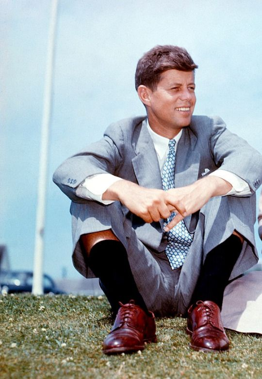 *JACK KENNEDY ~ in Hyannis Port, June 1953......For one shining moment there was Camelot.