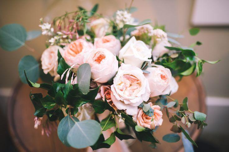 Blush Neutral Wedding Bouquet With Eucalyptus San Diego Florist Jerri Disney Pc Jenn Koch Lights Of Min Wedding Bouquets Wedding Flowers Floral Wedding