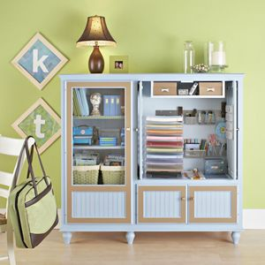 Gave me the idea to use an old entertainment center and change it into a craft organization space!: Idea, Crafts Rooms, Scrapbook Supplies, Tv Cabinets, Crafts Storage, Scrapbook Storage, Tv Stands, Crafts Supplies, Entertainment Center