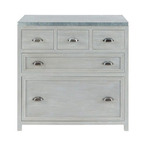 90 x 90 x 60 £400 Grey acacia wood lower kitchen cabinet L 90 cm