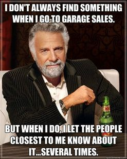 garage sale humor