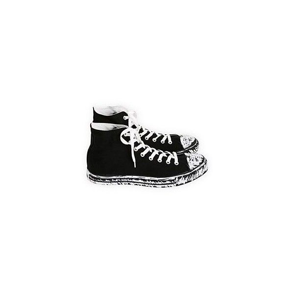 Converse Scribble High-Tops ($50) ❤ liked on Polyvore featuring shoes, sneakers, converse, sapatos, hi tops, high top shoes, high top sneakers, converse sneakers and converse high tops