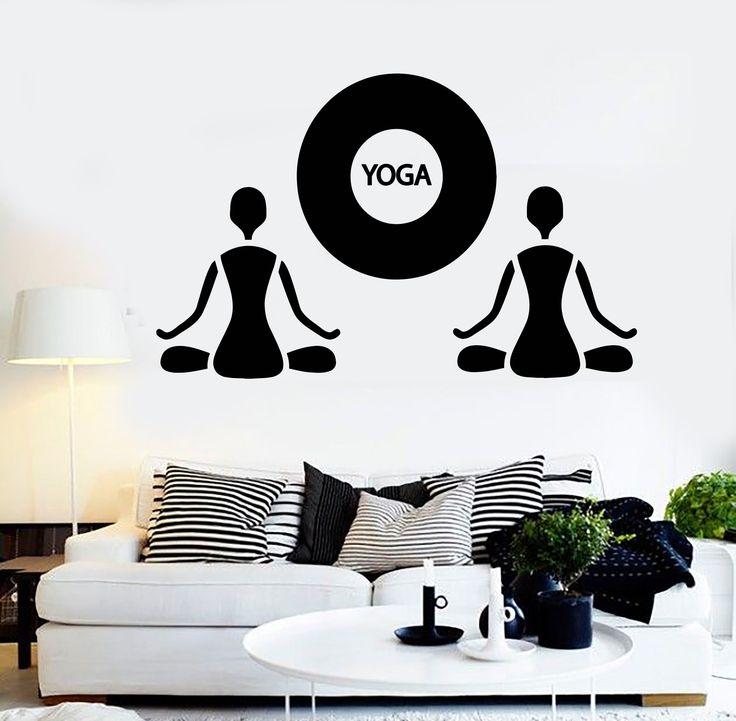 Vinyl Wall Decal Yoga Zen Meditation Buddhism Art Stickers (504ig)