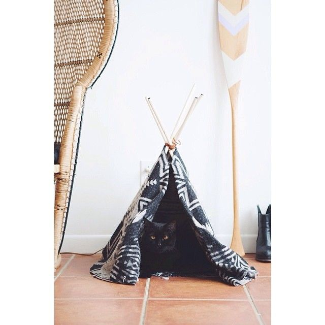 Cat Tipi Just a few simple materials can create an adorable hideout for your precious pet.