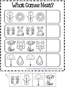 PATTERNS: Spring Patterns Worksheets