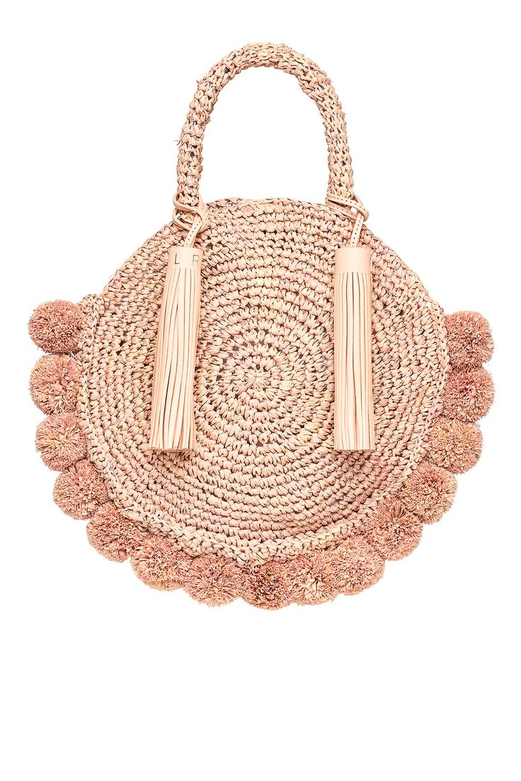 Rent Pink Straw Circle Tote by Loeffler Randall for $45 only at Rent the Runway.