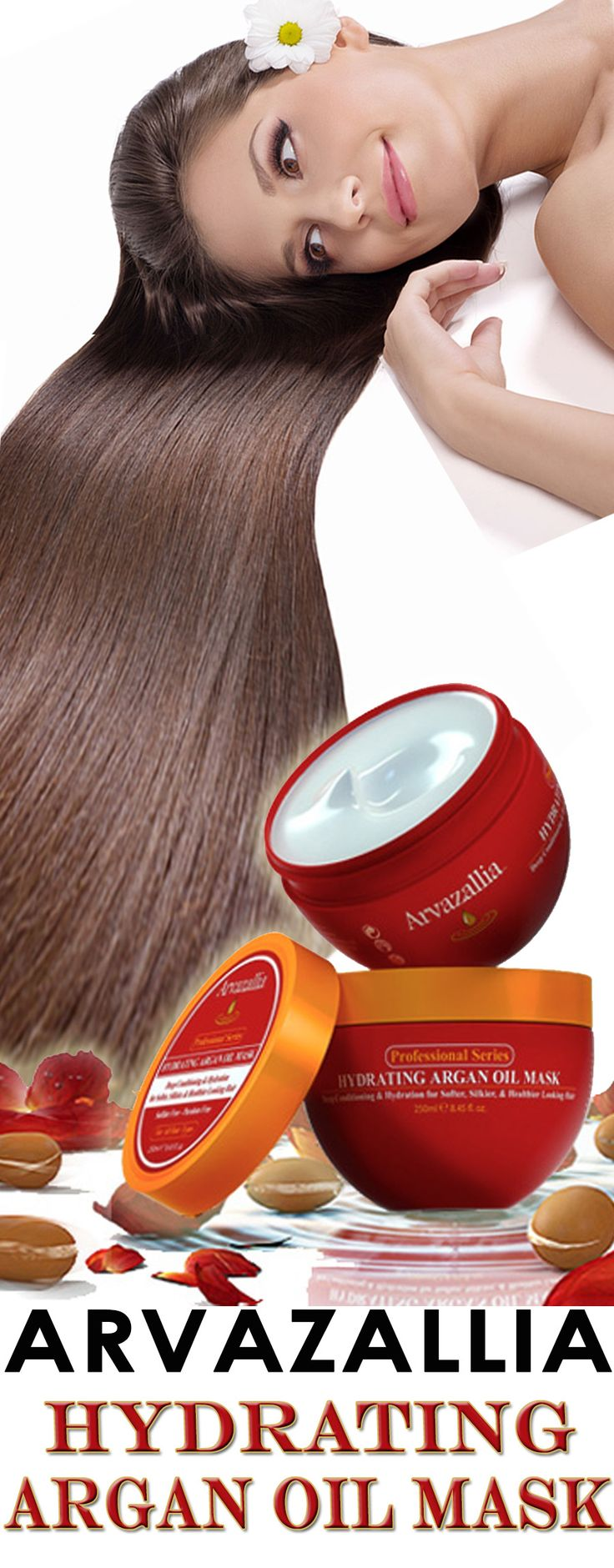 Arvazallia Hydrating Argan Oil Hair Mask and Deep Conditioner is Guaranteed to Make Your Hair Softer and Silkier. You will Fall In Love With Your Hair Again. Click Here to Learn More >> http://www.arvazallia.com/hydratingmaskpinpromo