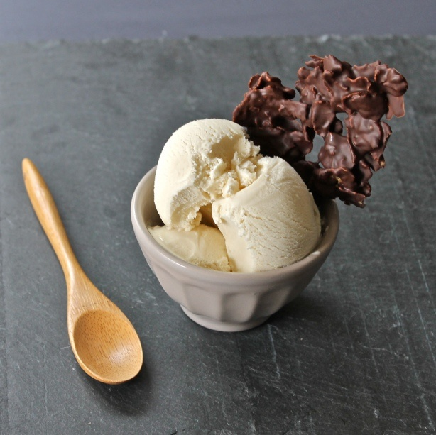 Cornflake ice cream with a side of chocolate covered cornflakes!  It's technically breakfast, right?  ;-)