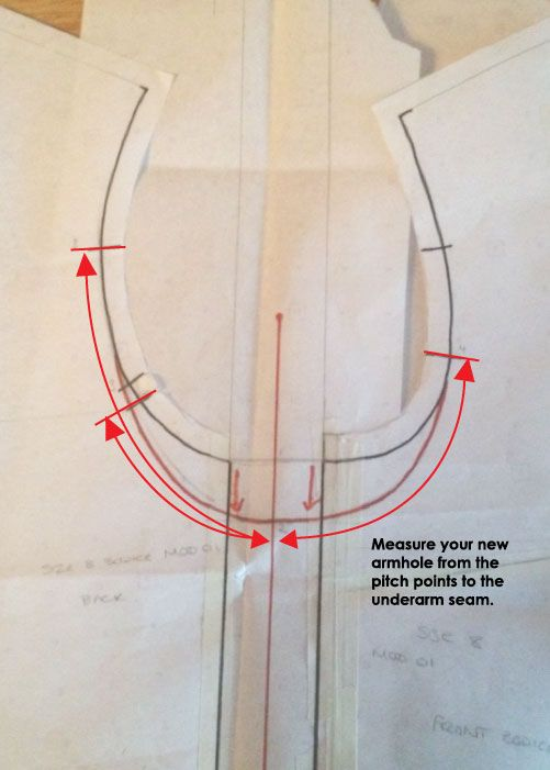 How to lower the armhole for an easier fit