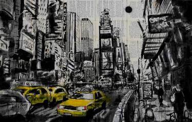 """Saatchi Art Artist Loui Jover; Drawing, """"new york taxi"""" #art"""