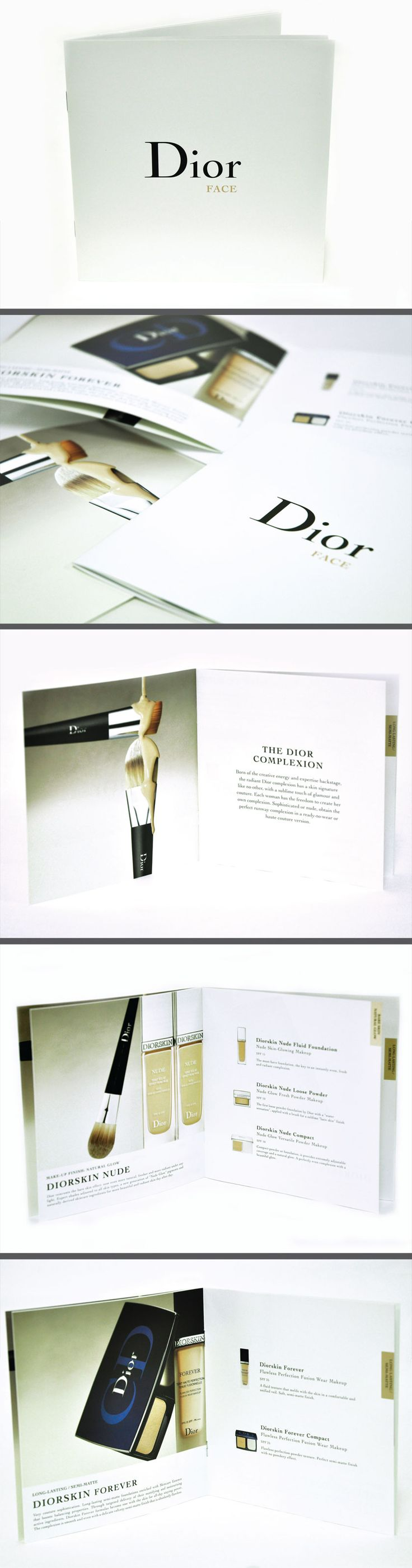 mini design Dior face brochure, your small business graphic designer sydney