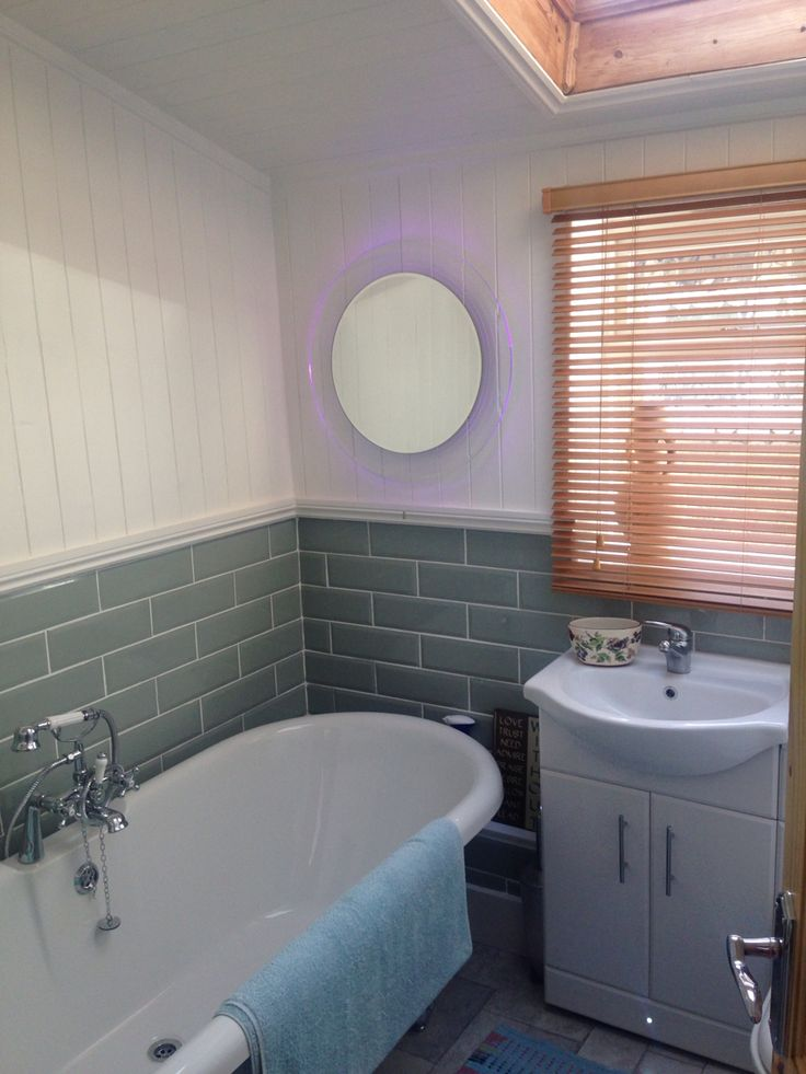 Amazing Newly installed bathroom with skirting lights colour changing mirror and light sensor