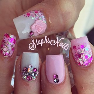 Stephanie Loesch @_stephsnails_ Simple Bday! #pin...Instagram photo   Websta (Webstagram)