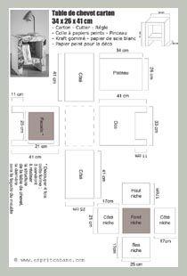 Plan table de chevet à telecharger