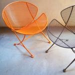 Clam ChairClams Chairs For, Orange, Mid Century Style, Clams Gardens, Outdoor Furniture, Outdoor Funiture, Gardens Outdoor Living, Gardens Chairs, Mobiliario Furniture