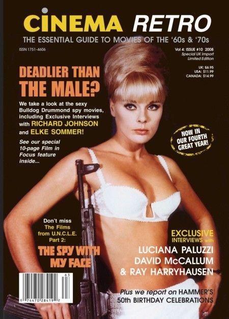 #Sixties | Elke Sommer on the cover of Cinema Retro Magazine