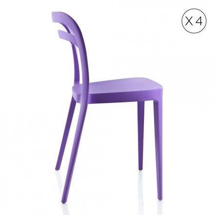 Julie sedia viola x 4