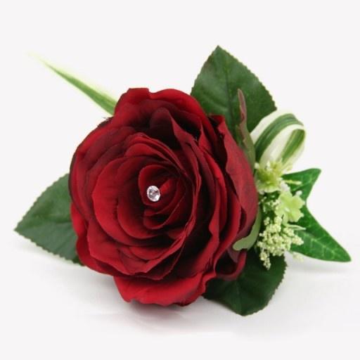 Burgundy Rose Corsage