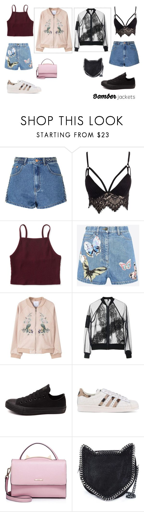 """""""Untitled #309"""" by epa1412 ❤ liked on Polyvore featuring Glamorous, Club L, Aéropostale, Valentino, MANGO, Topshop, Converse, adidas Originals, WithChic and STELLA McCARTNEY"""