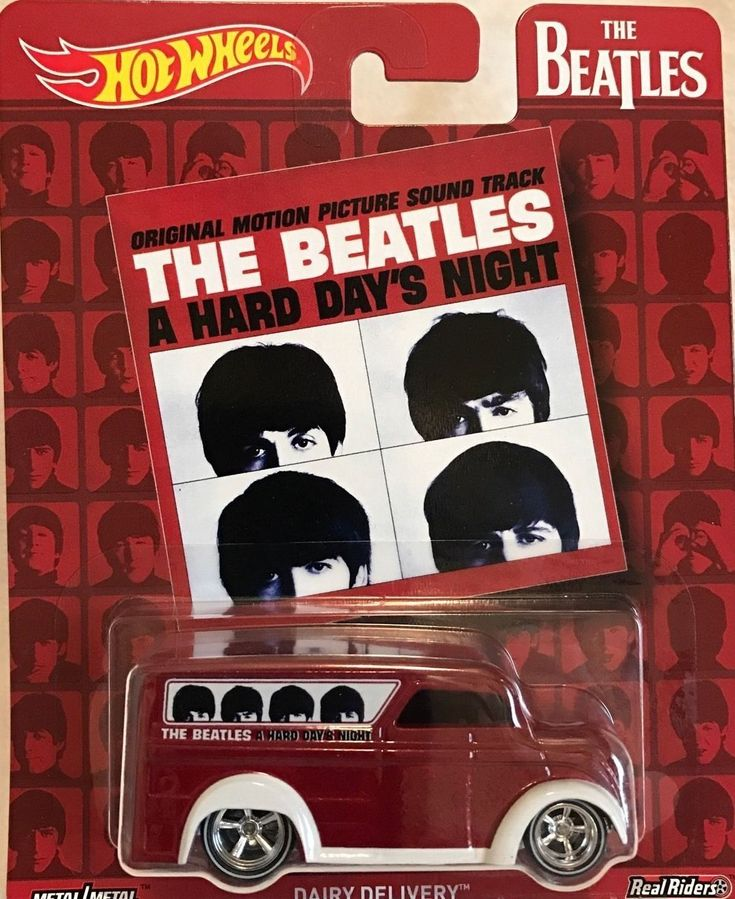 The Beatles A Hard Day's Night Hot Wheels Dairy Delivery Diecast Van (Click to Buy)