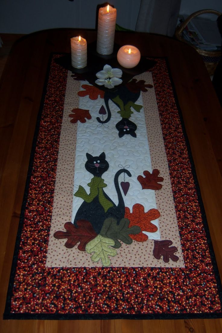 fall table runner...  so cute