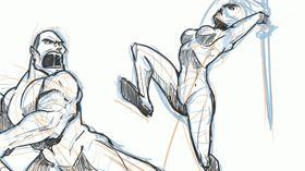 Dessiner des poses dynamiques de combat ! Jazza partage sa méthode pour dessiner le mouvement dynamique d'un personnage en plein combat.