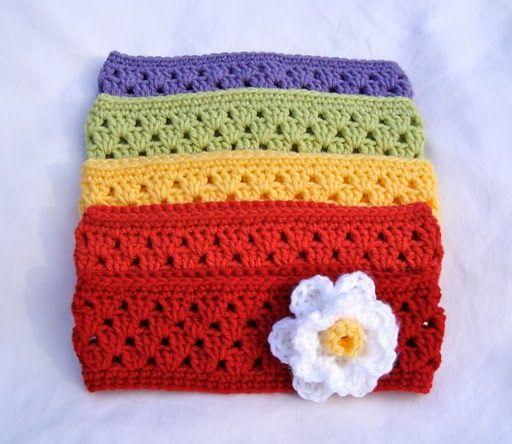 Crochet Granny Stripe Headband