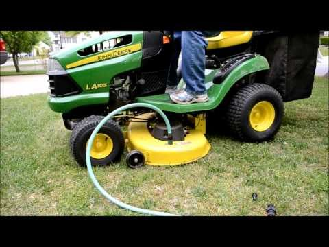 How To Install Tire Chains On A John Deere Riding Lawn Mower - YouTube