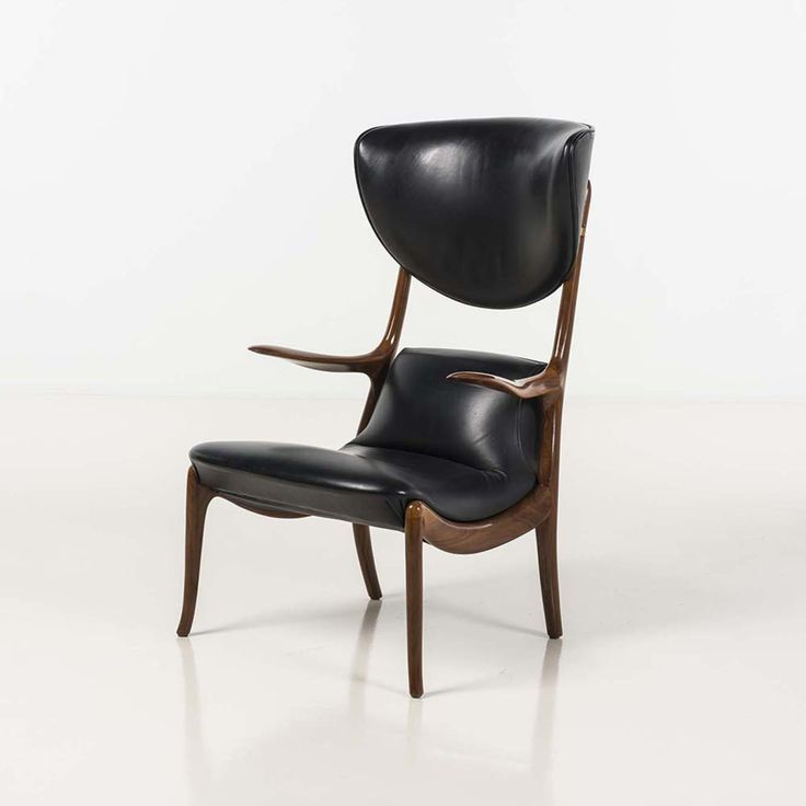 Roberto Lazzeroni; Rosewood And Leather U0027Star Treku0027 Chair For Ceccotti, ...