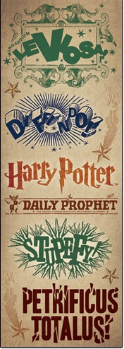 £0.99 spells Harry Potter cardstock stickers www.scrappingthemagic.co.uk great for all your Harry Potter Studio Tour or Wizarding World of Harry Potter Scrapbooking Layouts
