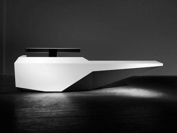 modular krion reception desk edge 3 edge collection by isomi design paul