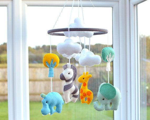 Animal Mobile  Baby Mobile  Nursery Mobile Baby by FlossyTots