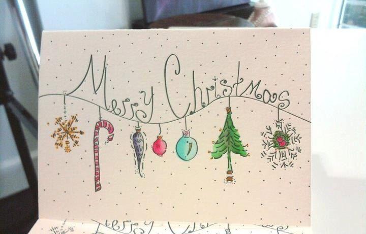 Letterpress Christmas Cards. $4.50, via Etsy.