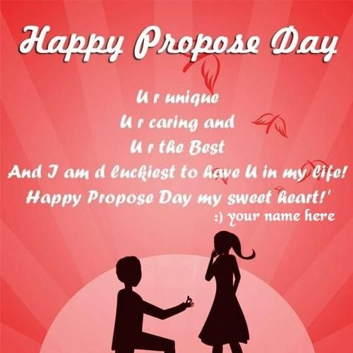 write names on lovely happy propose day wishes quotes pictures. write my name on happy propose day messages with name pictures. best propose day wishes name pix